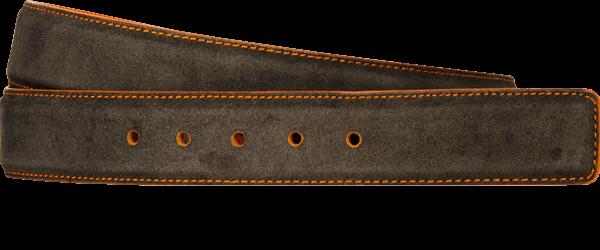 Suede Leather Grey Shadow Orange Sku 620 Custom