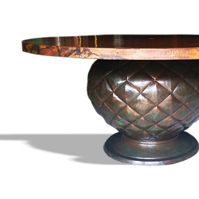 Hammered Copper Table Bases